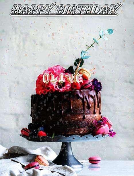 Happy Birthday Olive Cake Image