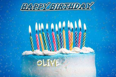 Happy Birthday Cake for Olive