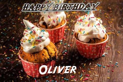 Happy Birthday Oliver Cake Image