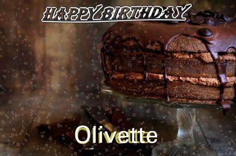 Happy Birthday Cake for Olivette