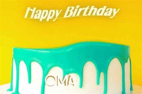 Happy Birthday Oma Cake Image