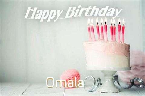 Happy Birthday Omala Cake Image