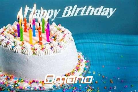 Happy Birthday Wishes for Omana