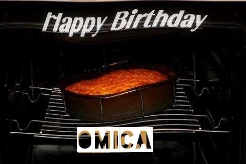 Happy Birthday Omica Cake Image