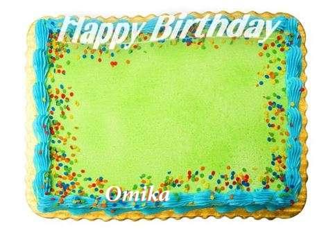Happy Birthday Omika Cake Image