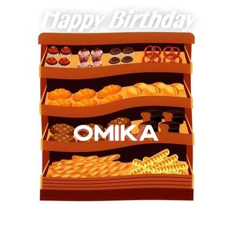 Happy Birthday Cake for Omika