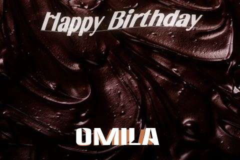 Happy Birthday Omila Cake Image