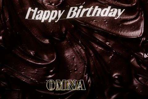 Happy Birthday Omna Cake Image