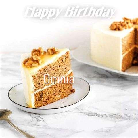 Happy Birthday Cake for Omnia