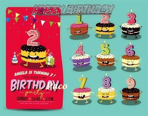 Happy Birthday Paco Cake Image