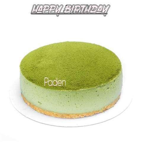 Happy Birthday Cake for Paden