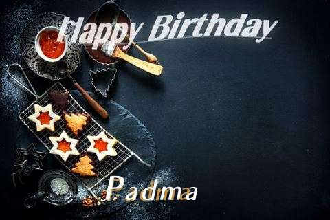 Happy Birthday Padma Cake Image
