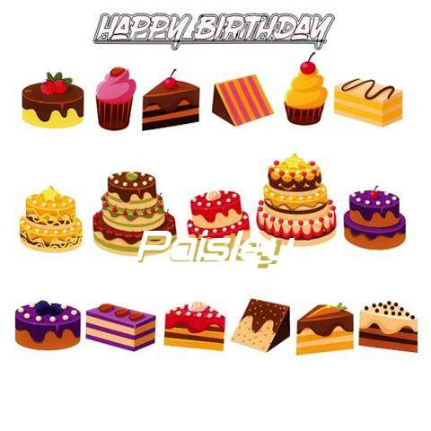 Happy Birthday Paisley Cake Image