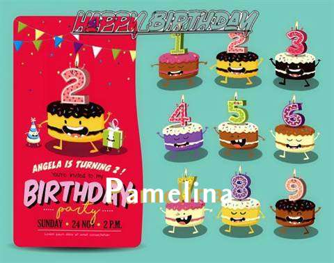 Happy Birthday Pamelina Cake Image