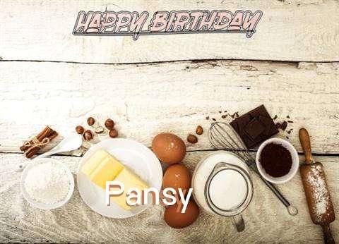 Happy Birthday Pansy Cake Image