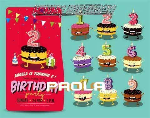 Happy Birthday Paola Cake Image