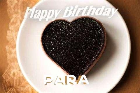 Happy Birthday Para Cake Image