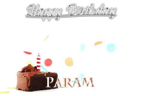 Happy Birthday Cake for Param