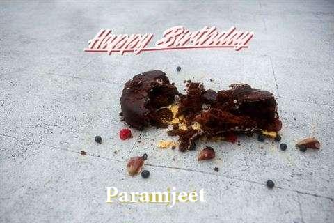 Happy Birthday Cake for Paramjeet