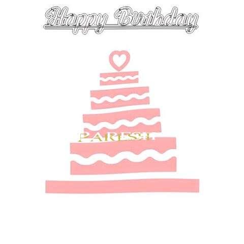 Happy Birthday Paresh Cake Image