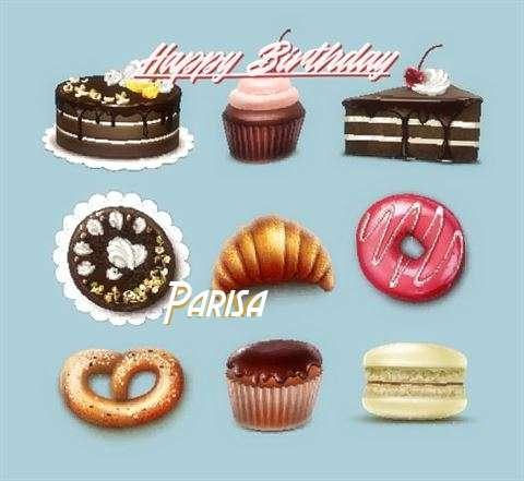 Happy Birthday Cake for Parisa