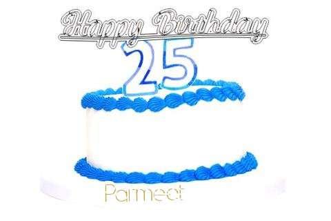 Happy Birthday Parmeet Cake Image