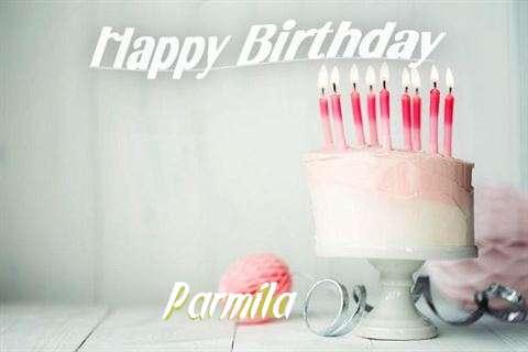 Happy Birthday Parmila Cake Image