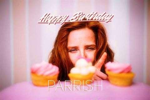 Happy Birthday Parrish Cake Image
