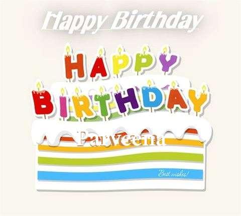 Happy Birthday Wishes for Parveena