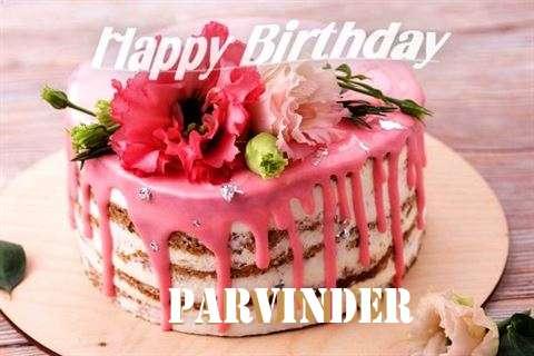Happy Birthday Cake for Parvinder