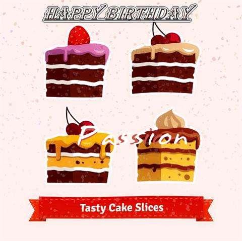 Happy Birthday Passion Cake Image