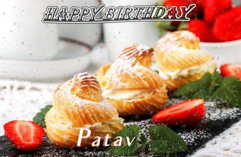Happy Birthday Patav Cake Image