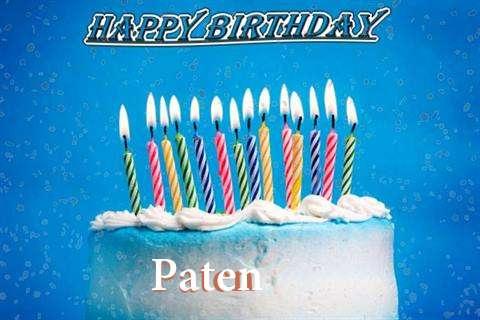 Happy Birthday Cake for Paten