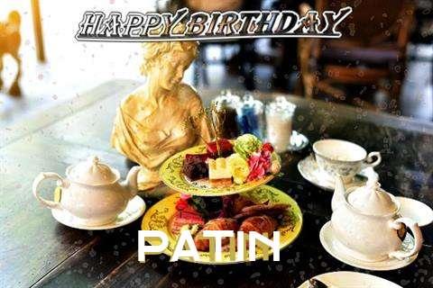 Happy Birthday Patin Cake Image