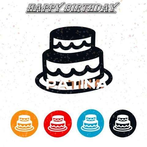 Happy Birthday Patina Cake Image