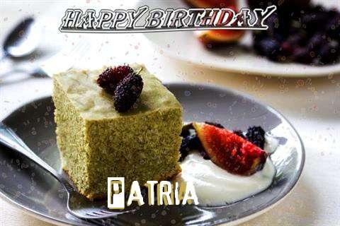 Happy Birthday Patria Cake Image