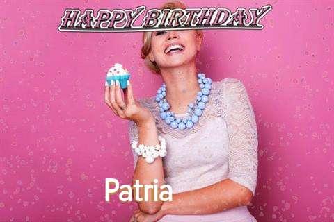 Happy Birthday Wishes for Patria