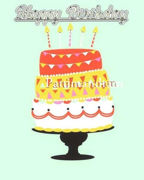 Happy Birthday Pattimandram Cake Image