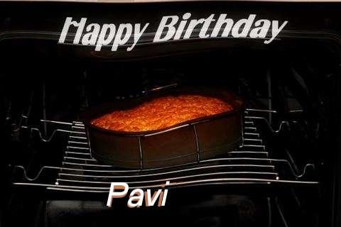 Happy Birthday Pavi Cake Image