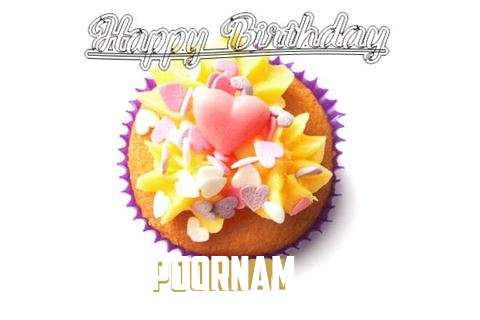 Happy Birthday Poornam Cake Image