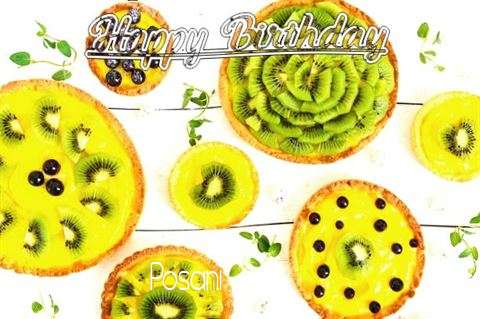 Happy Birthday Posani Cake Image
