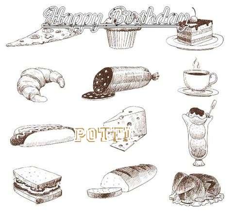 Happy Birthday Cake for Potti