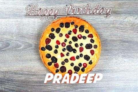 Happy Birthday Cake for Pradeep