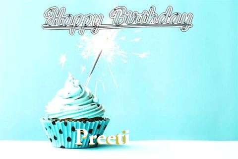 Happy Birthday Cake for Preeti