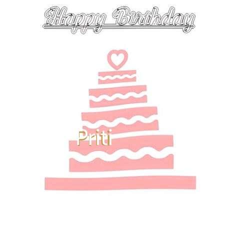 Happy Birthday Priti Cake Image