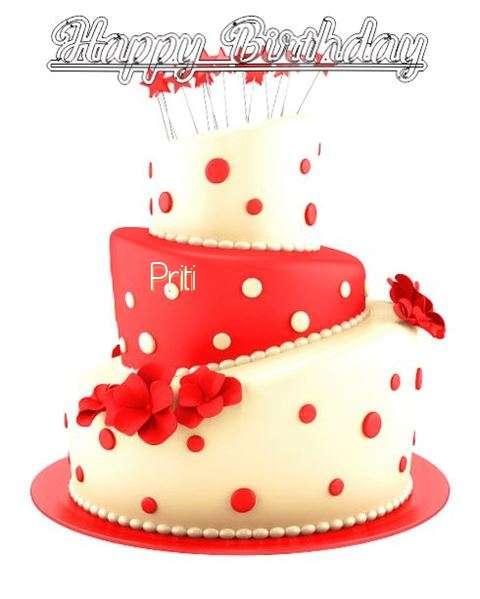 Happy Birthday Wishes for Priti