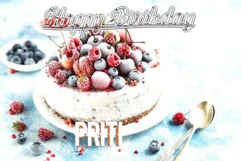 Happy Birthday Cake for Priti