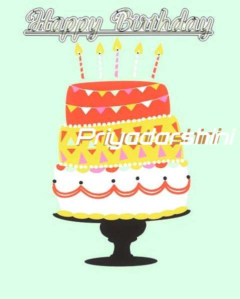 Happy Birthday Priyadarshini Cake Image