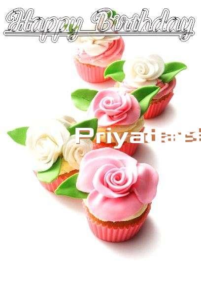 Happy Birthday Cake for Priyadarshini