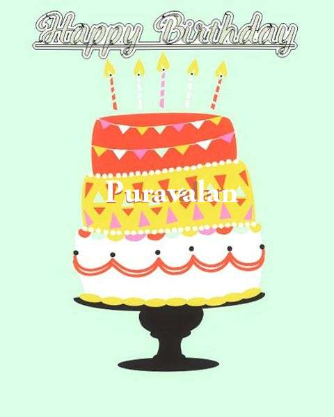 Happy Birthday Puravalan Cake Image